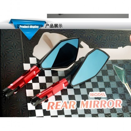 ALLOY CNC Side Mirror Universal Racing Honda Yamaha Y15ZR RS150 High Quality *Short Type*